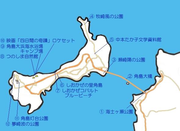 角島の地図